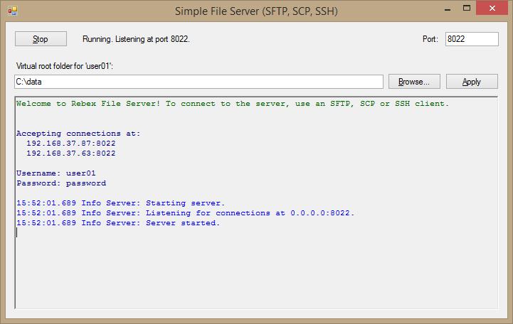 Rebex File Server library for  NET - Rebex NET