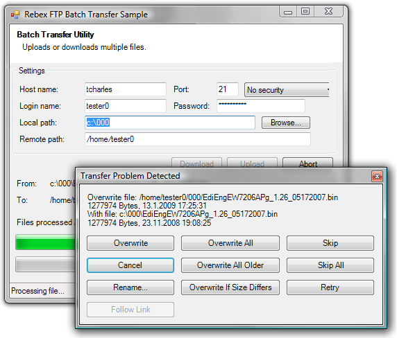 Batch FTP Upload Synchronizer screenshot