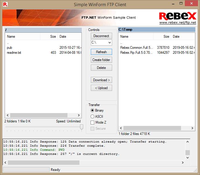Rebex FTP/SSL client library for  NET - Rebex NET
