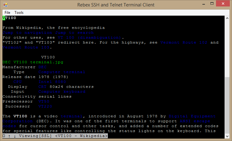 Rebex Terminal Emulation client library for  NET - Rebex NET