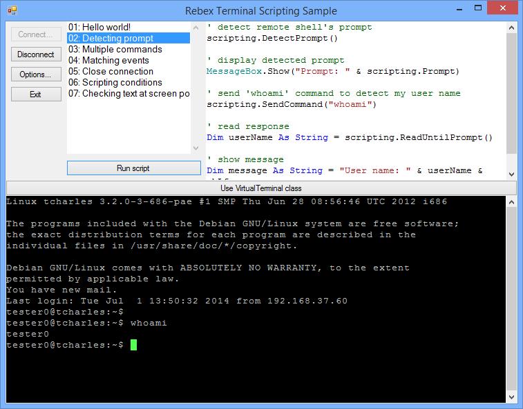 TerminalScriptingWinForm - GUI SSH and telnet client scripting